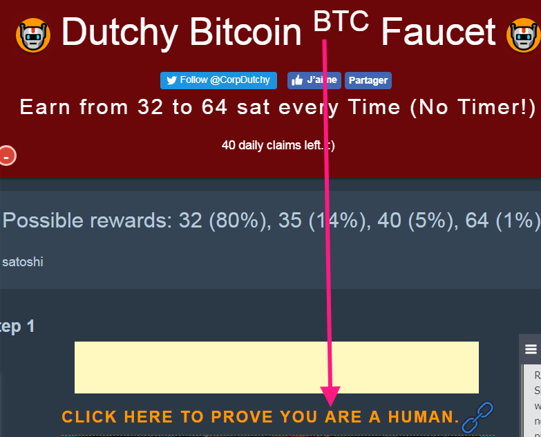 Testeando Criptomonedas - Cómo ganar 1.800 satoshis diarios con Dutchy Bitcoin Faucet. Dutchy-Bitcoin-BTC-Faucet-5