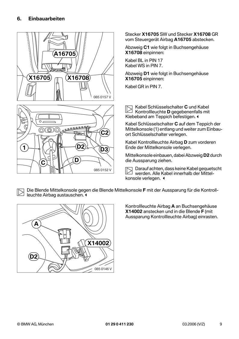 BMW EBA - Z4 E85 E86 Deaktivierung Beifahrerairbag