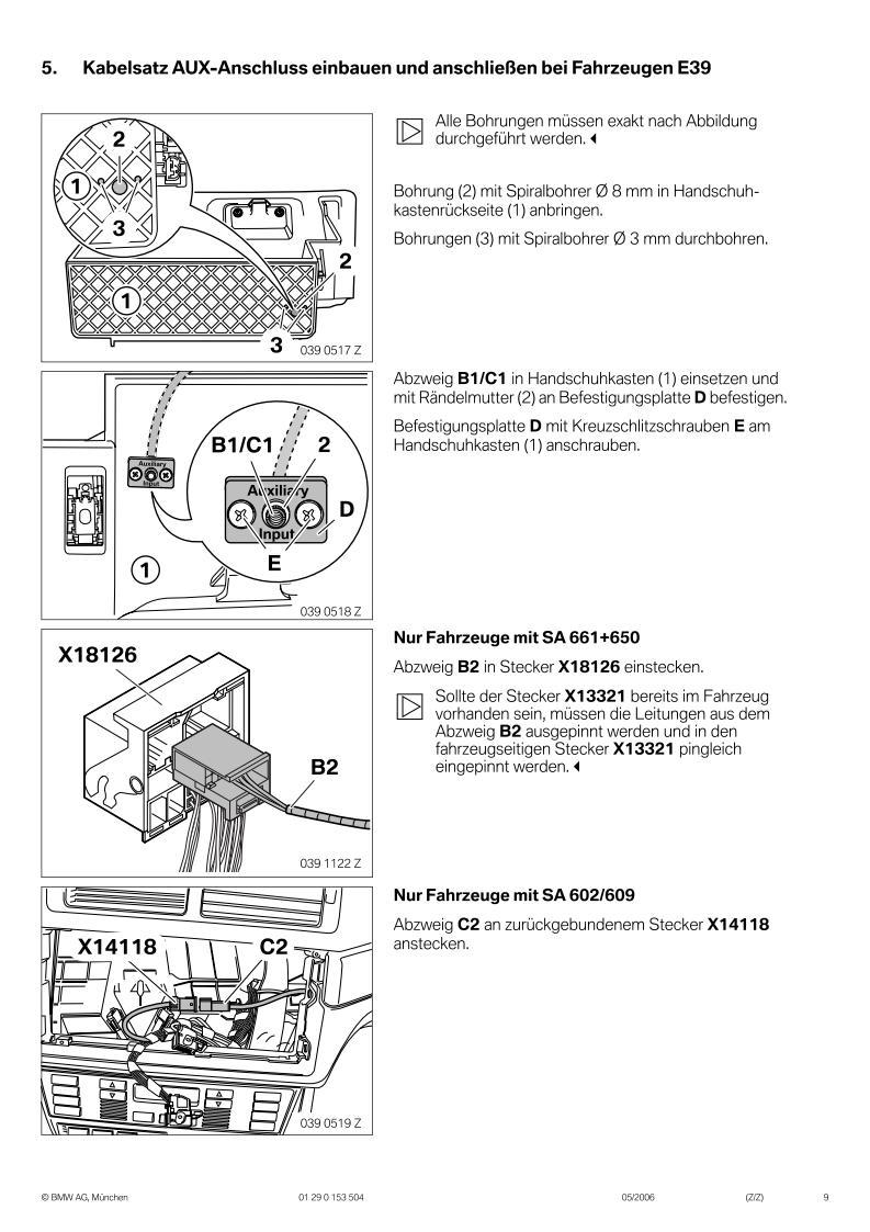 bmw eba x3 e83 aux anschluss. Black Bedroom Furniture Sets. Home Design Ideas