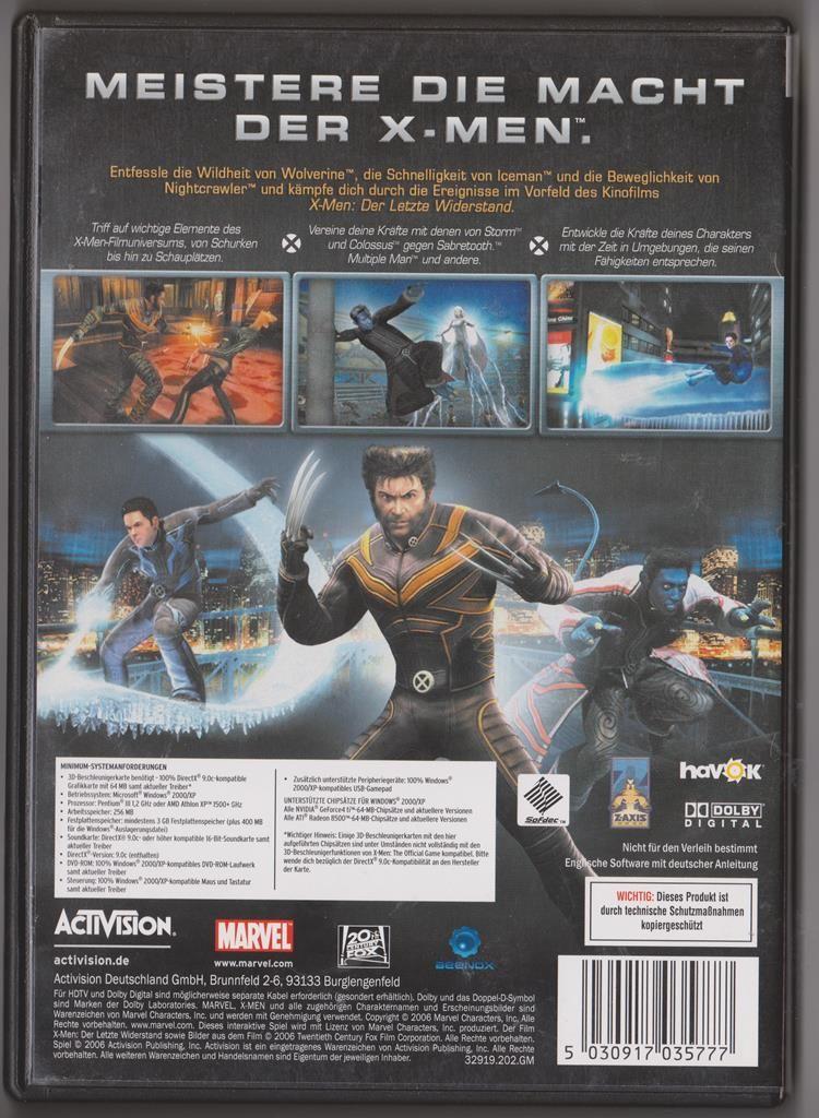 X Men Spiel