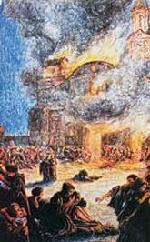 Incendio de la iglesia de la compañia