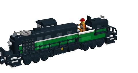 Bricks on Rails / Alco RSC 3