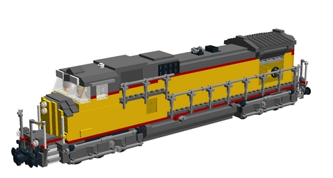 Bricks on Rails / GE Dash 9-44CW