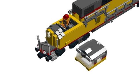 Bricks on Rails / GE Dash 9-44CW 6-wide
