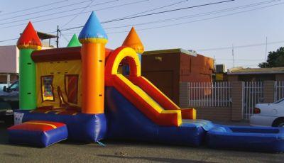 Brincolinas mi alegria renta de todo para tu fiesta for Resbaladilla para alberca