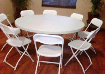 Brincolinas mi alegria renta de todo para tu fiesta - Mesa redonda con sillas ...