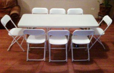 Brincolinas mi alegria mesas y sillas for Mesa 8 personas medidas