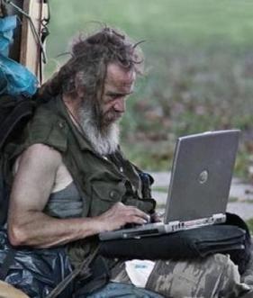 Penner Mit Laptop