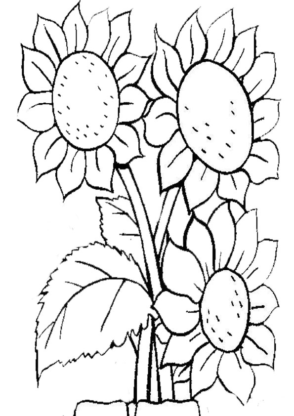 Charmant Malvorlagen Blumen Hart Zeitgenössisch ...