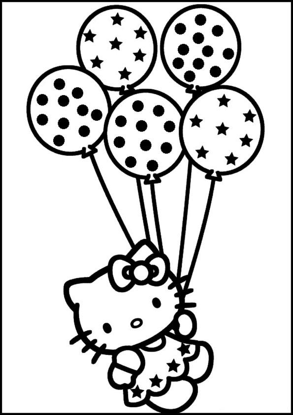 Niedlich Hallo Kitty Ballon Malvorlagen Bilder - Ideen färben ...