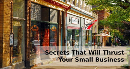 Secrets That Will Thrust Your Small Business