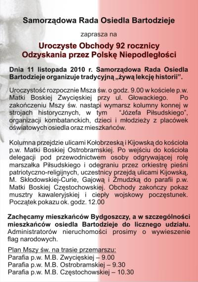 Informacje Dla Mieszkańców I Sympatyków Osiedla Bartodzieje