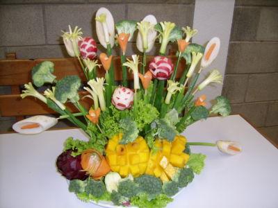 Decoraciones con frutas y verduras for Decoracion con verduras