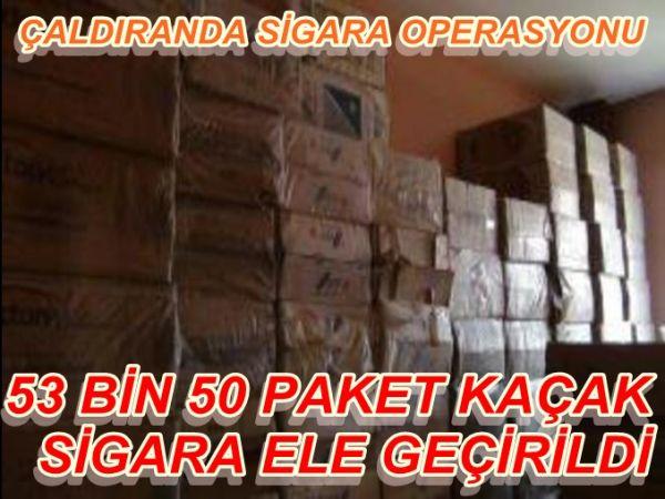 53 BİN PAKET SİGARA YAKALANDI