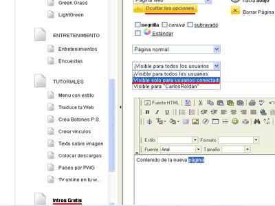 Páginas Oculatas | www,carlos-roldan.com.ar