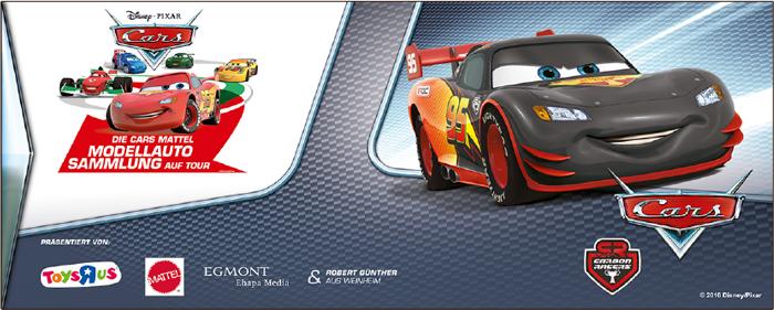 Die Disney Cars Matell Modellautosammlung auf Tour