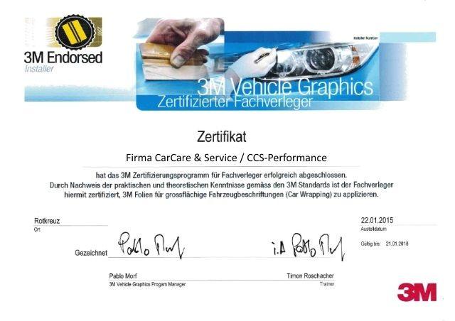 CCS-Performance - Zertifizierungen
