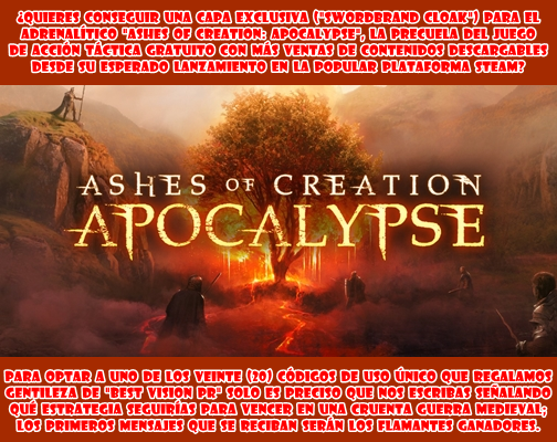 "SORTEO ""Ashes of creation: Apocalypse"""