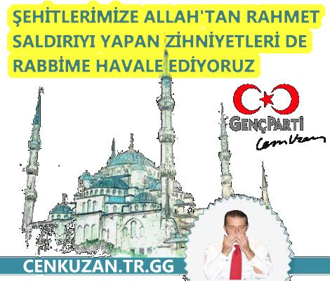 Cem Uzan : Camiye Yapılan Terör Saldırısını Kınıyoruz