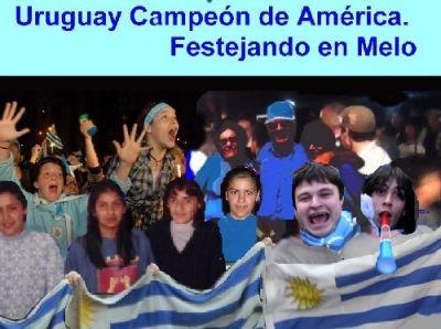 Festejos de Uruguay en Melo