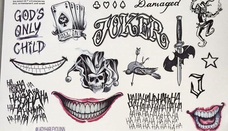 Suicide Squad Joker'in Dövmeleri