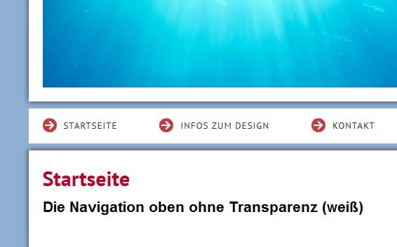 Menü transparenz
