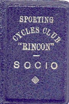 Carnet Club Rincon 1947