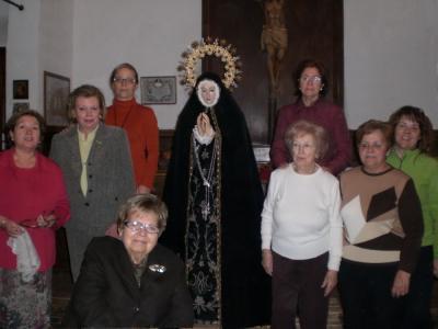 Foto de las Camareras de la Virgen, Semana Santa de 2008