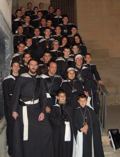 Banda de Tambores Semana Santa 2008, minutos antes de salir en procesión