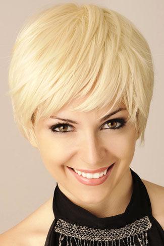 Frauen blond kurzhaarschnitt Die 45