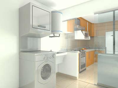 Condominio amalia de boulevard lujo tranquilidad y for Planos de cocina y lavanderia