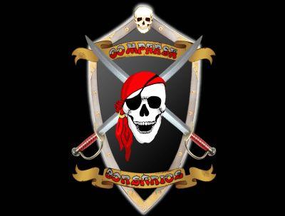 Escudo fondo negro