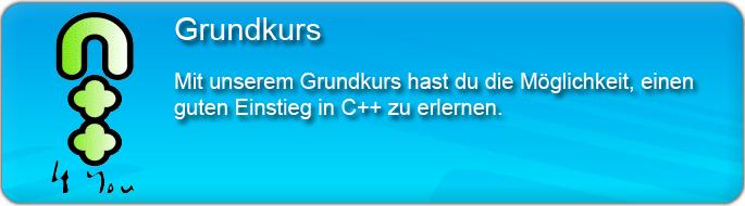 Der Grundkurs bietet dir einen guten Einstieg in die Programmiersprache C++.