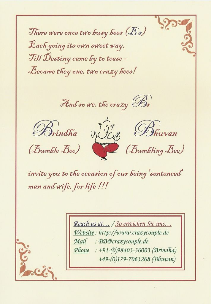 Marriage Invitation - Page 3 of 4