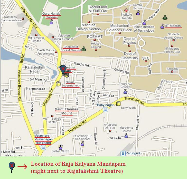 Marriage Invitation Location Map