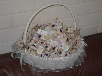 Creaciones aurallen variedad de encintados y souvenirs - Como adornar cestas de mimbre ...