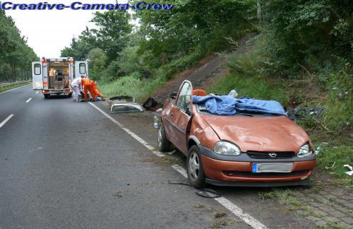 Schwerer Verkehrsunfall auf der Budesstraße 6