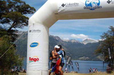Team Equipo Qhantir Qullu Qullu Columbia Cruce de los Andes 2009 Ariel Raguzzi llegada etapa 2