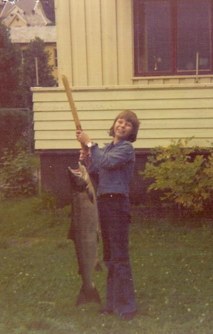 storlaks teke i Båthølen i 1970. Foto: Øystein Sellevold