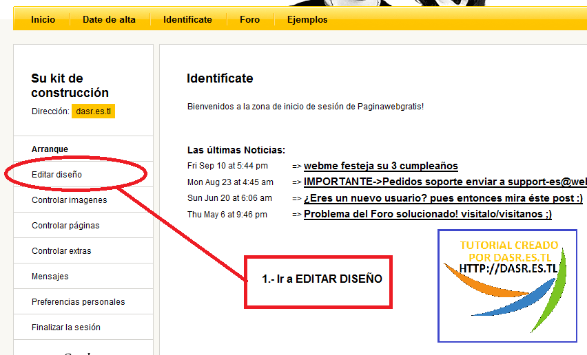 Pagina web de dasr - Como instalar plantilla CSS