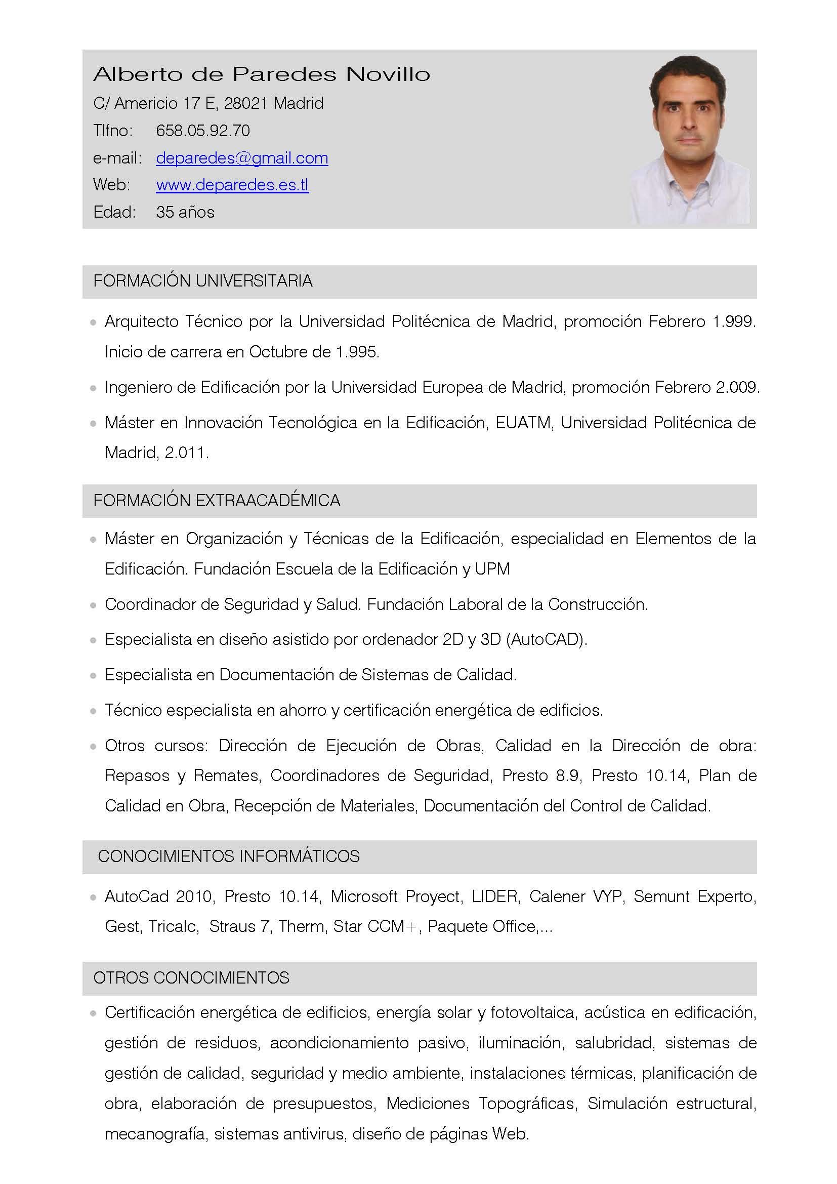 Curriculum vitae plantilla arquitecto / purchase an essay