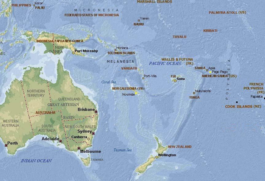 Ellice Islands Map