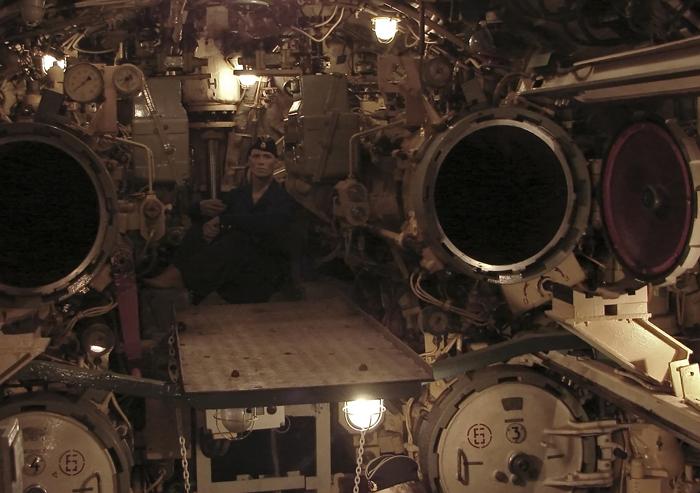 Torpedoraum eines Russichen U-Boots