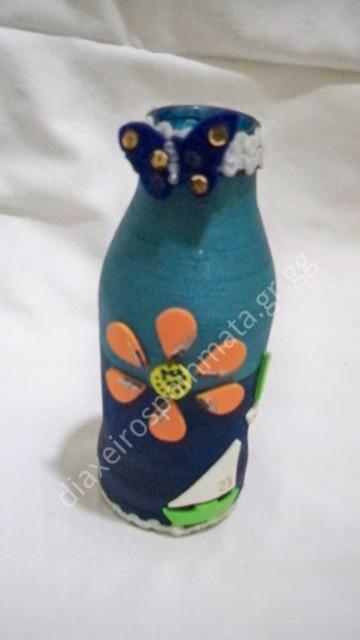 Διακόσμηση σε μπουκάλι με νήμα