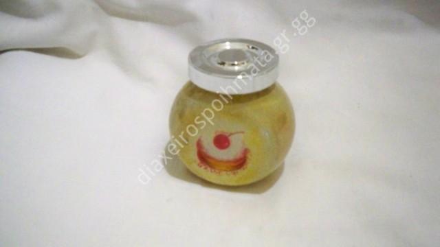 Γυάλινο βαζάκι μπαχαρικών  - Decoupage σε γυαλί