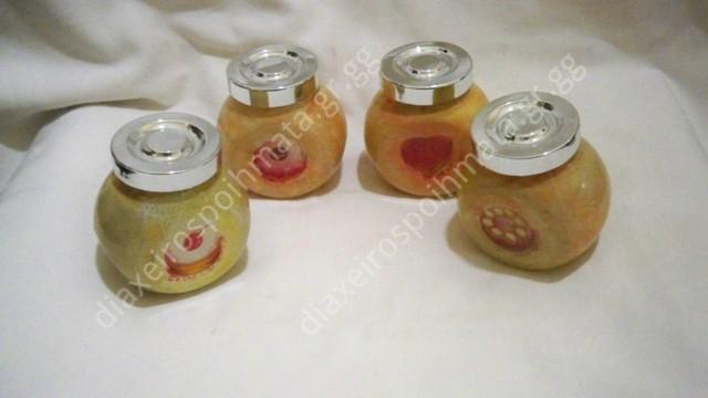Γυάλινα βαζάκια μπαχαρικών  - Decoupage σε γυαλί