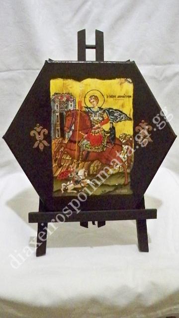 Ο Άγιος Δημήτριος - Εικόνα σε καμβά με σμάλτο