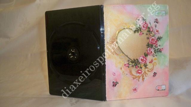 Μία θήκη για cd με decoupage κ´ 3D