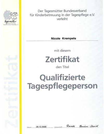 Kindergruppe die hampelm nner zertifikat for Raumgestaltung in der kindertagespflege
