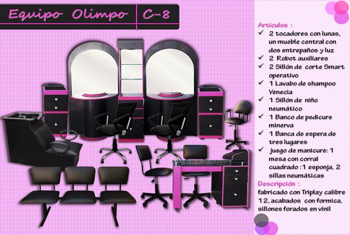 Mueblesparaestetica equipos completos for Accesorios para salon de belleza